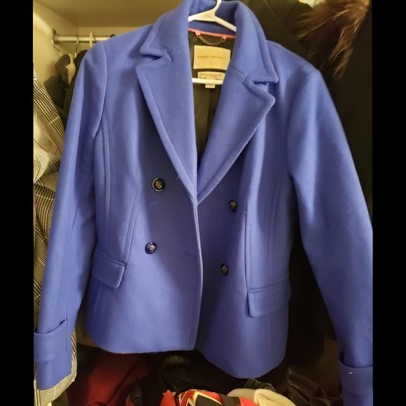 Banana Republic Jackets & Blazers - Royal Blue Banana Republic Wool Peacoat Size M